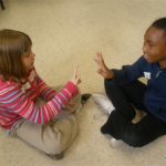 Students in Davenport connecting drama with language arts